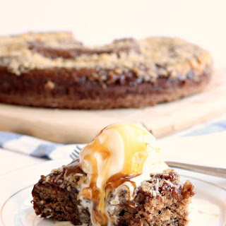 {Light} Coconut Date Pudding Cake