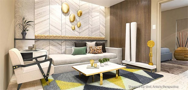 Gold Residences, Paranaque living area