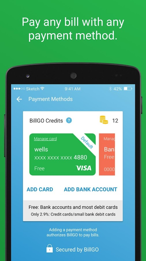 BillGO – Intelligent Bill Pay- screenshot
