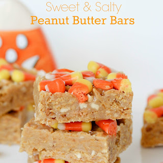 Sweet and Salty Candy Corn Bars.