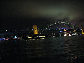 Photo: That night it finally stopped raining, so we headed back to Circular Quay to check out Vivid- an annual light show in Sydney.