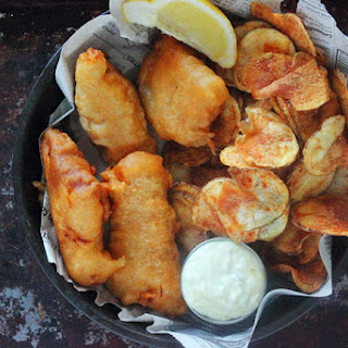 Beer Battered Fish & Chips.