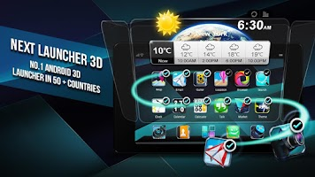 Screenshot of Next Launcher 3D Shell
