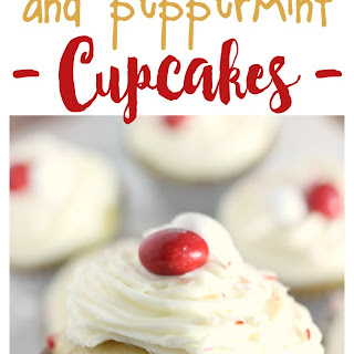 White Chocolate and Peppermint Cupcakes