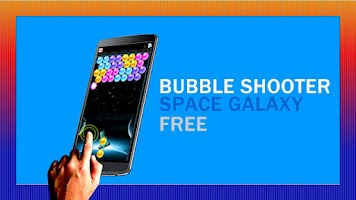 Screenshot of bubble shooter laser simulated