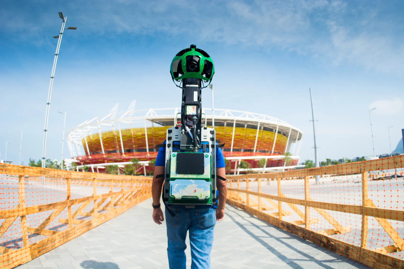 Google Trekker operator captures 360-degree imagery from inside Rio's Olympic Park
