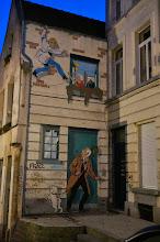 Photo: Ric Hochet en mural.