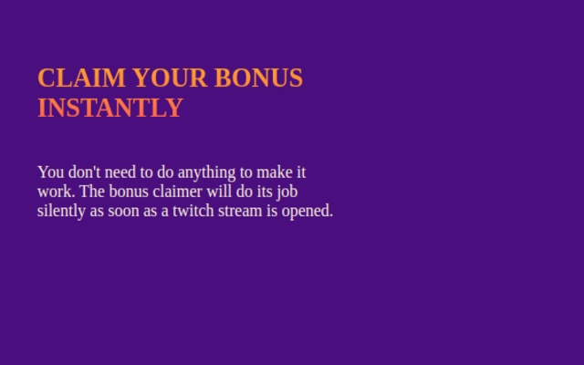 Twitch Bonus Claimer