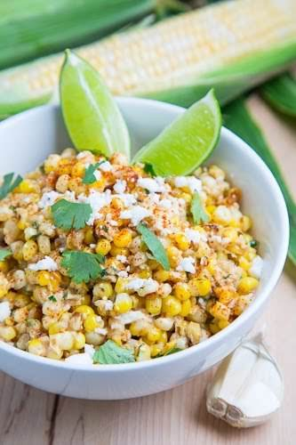 """Esquites (Mexican Corn Salad) """"A tasty Mexican street corn salad with an..."""