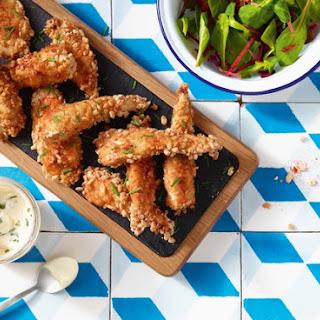 Chicken Goujons Recipe With A Rice Pop Twist.