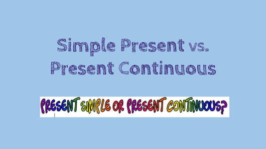 Copy of Simple Present VS. Present Continuous HyperDoc