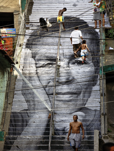 jr favela morro da providència women are heroes staircase