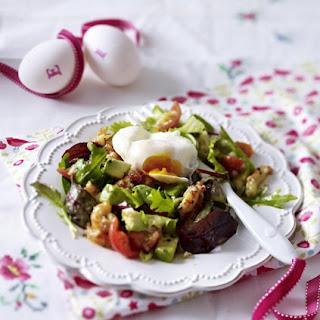 Poached Egg and Crayfish Salad.