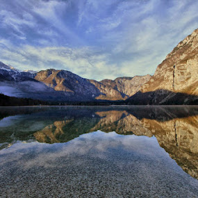 cold reflection by Anže Papler - Landscapes Waterscapes ( relax, tranquil, relaxing, tranquility )