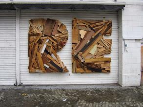 Photo: stukje van mijn garage poort ? N E ontbreekt nog