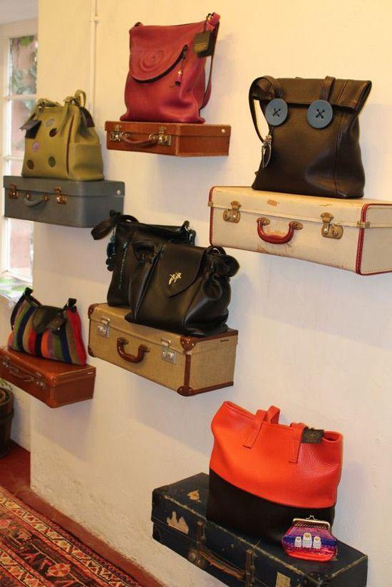 suitcase shelves DIY Retail Display Ideas