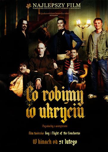 Przód ulotki filmu 'Co Robimy W Ukryciu'