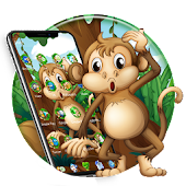 Kawaii Cute Brown Cartoon Monkey Theme