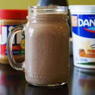 Peanut Butter Banana Chocolate Smoothie.