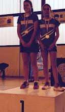 Photo: TIJ3-2015 Faulquemont Double Dames Minimes Médaille d'Or: Margot Tailfer (avec C Mehn)