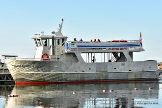 Photo: Looks like the Island Runner Ferry is docking at Burton Island State Park by Raven Schwan-Noble
