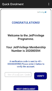 JetPrivilege Staff Application - náhled