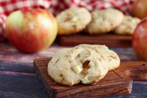 Double Caramel Apple Cookies