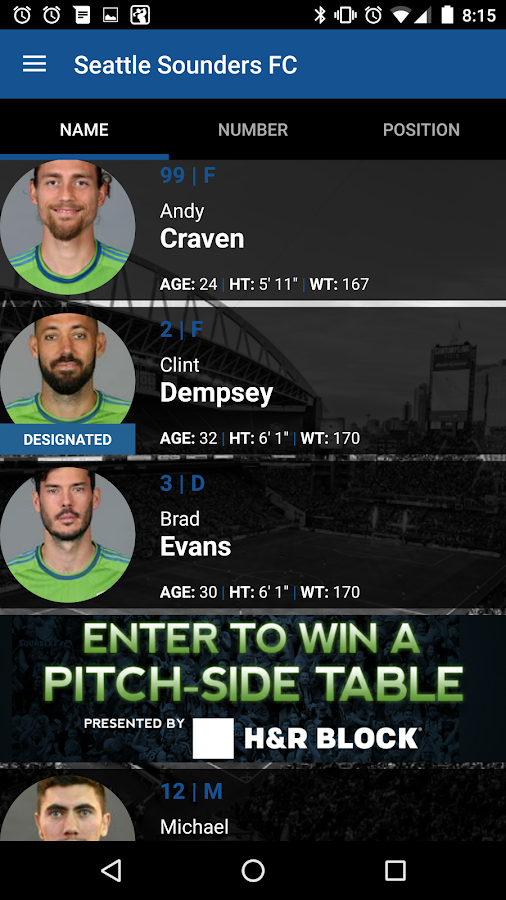 Sounders FC- screenshot