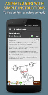 Gym Exercises & Workouts screenshot