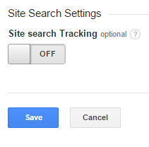 Site Search Tracking.