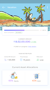 Goalwise Mutual Fund Investment App - náhled