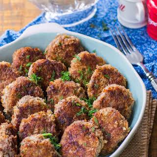Juicy Beef Cutlets With Mushroom Gravy.