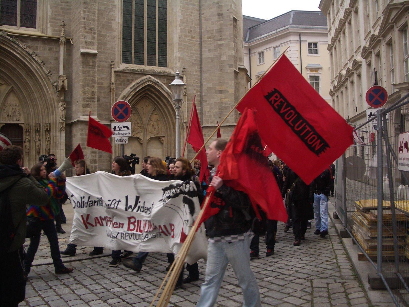 Photo: #UniBrennt in Wien, 2009