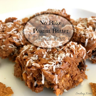Healthy No-Bake Peanut Butter Cereal Bars