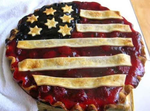 "Stars and Stripes Pie ""I changed it up and used strawberry pie..."
