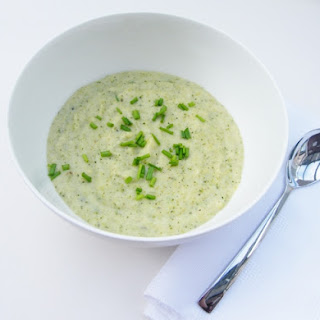 Cauliflower Cheese Soup with Broccoli.