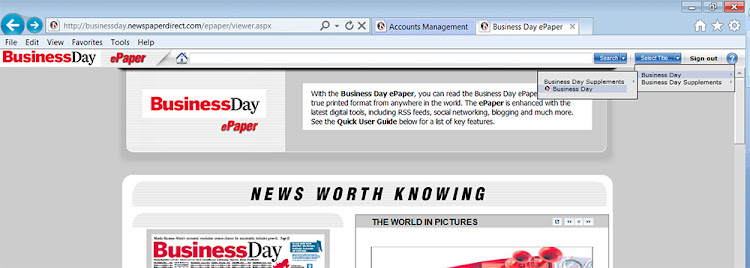 How to read the Business Day or Financial Mail e-edition