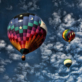 Up, Up and way! by Ruth Sano - Transportation Other ( clouds, flying, sky,  )