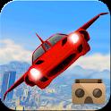 VR Futuristic Flying Car Drive