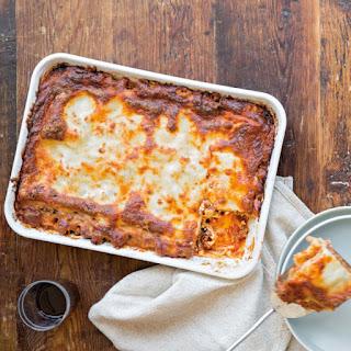 Beef and Sausage Lasagna with Marinara