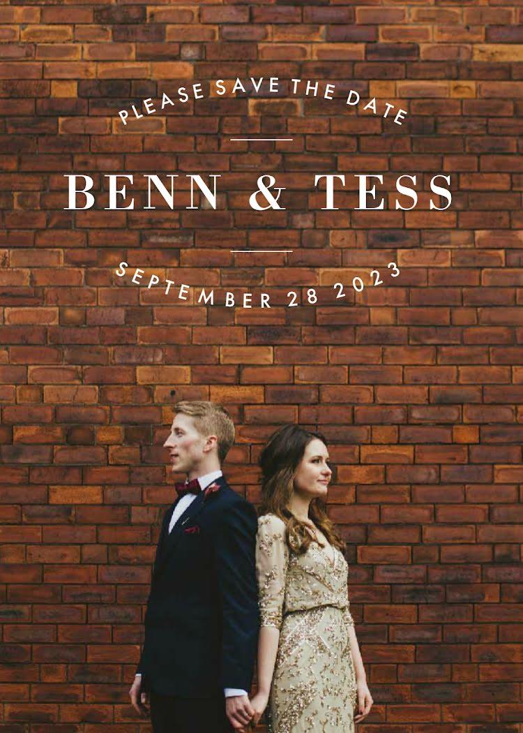 Ben & Tess's Wedding - Wedding Invitation Template