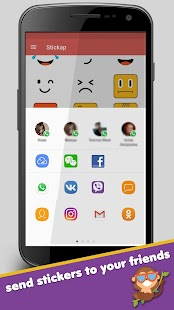Free Stickers for WhatsApp, Viber, Facebook Screenshot