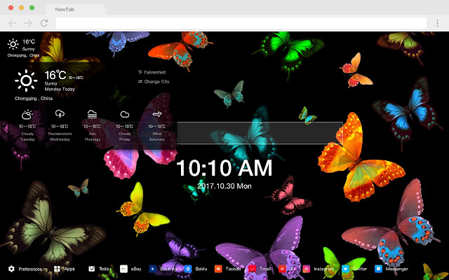 Neon New Tab Page HD Style Top Theme