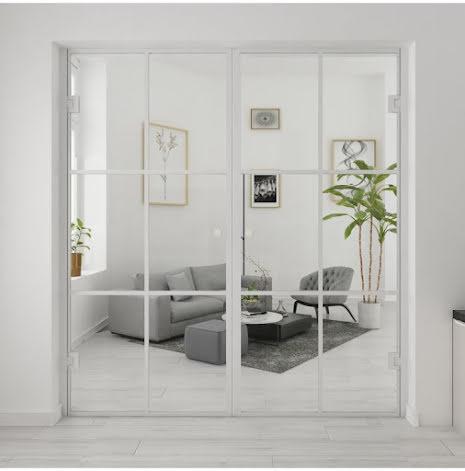 Industrivägg Dörr + dörr vit