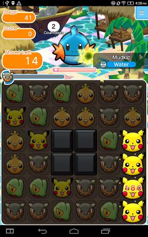 0 Pokémon Shuffle Mobile App screenshot