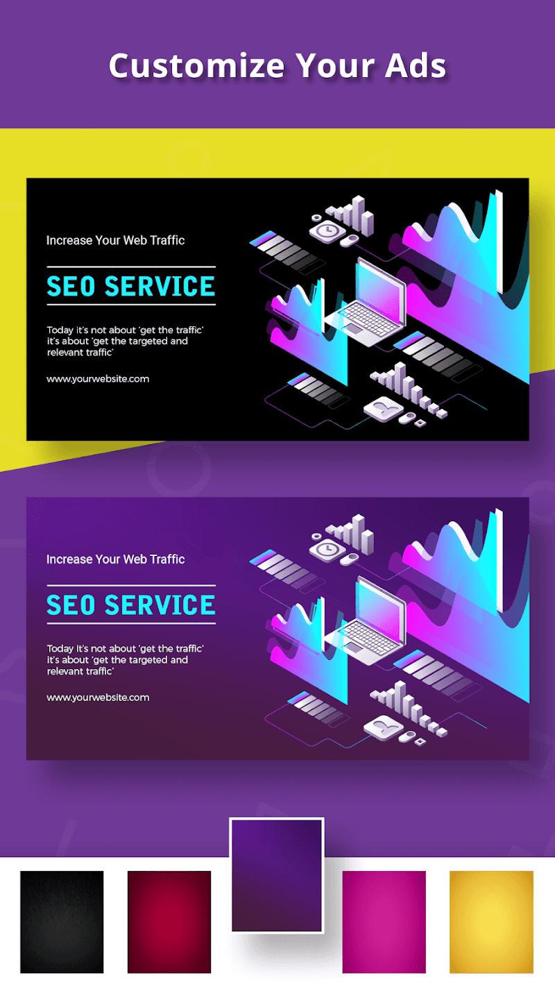 Banner Maker, Ad Maker, Web Banners, Graphic Art Screenshot 4