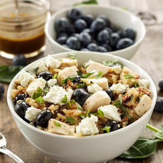 Blueberry Basil Rice Salad