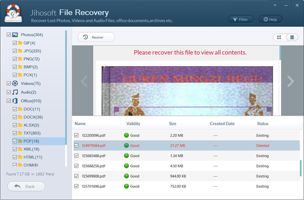 Preview and Recover Windows 7 Deleted Files