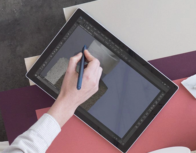 Surface Pro 7 Surface ペン 傾き検知機能を使って自然に描画