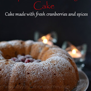 Spiced Cranberry Cake | Bundt cake with fresh cranberries